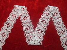 Beautiful stretch lace ribbon quality white 10 yards free shipping!
