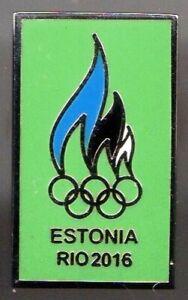 RIO 2016. OLYMPIC GAMES. NOC PIN. ESTONIA. SMALL PIN