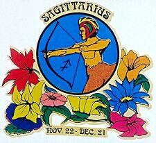Vintage 70s Sagittarius Iron On Transfer Horoscope Horse Man Nov22-Dec21 RARE!