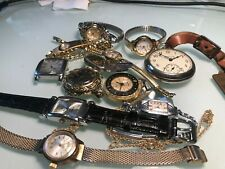 LOT OF WATCHES WIND UP BUREN14 GOLD FILLED BULOVA ART DECO LUCERNE SWISS MORE