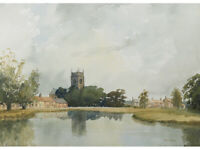 Great Massingham, Norfolk by Theo Else - Original Watercolour Painting - Church
