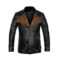 Jim Morrison Real Sheepkin Leather Jacket Coat