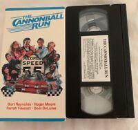 Cannonball Run VHS Burt Reynolds Roger Moore Farrah Fawcett Tested!!