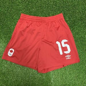 2016 Rio Olympics Soccer Canada Shorts Nichelle Prince Medium Umbro 15 M Red