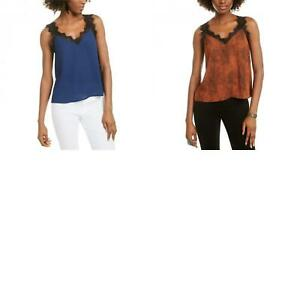 NWT Q & A Womens Unlined V-Neck Lace Trim Cami Camisole. T50411-07