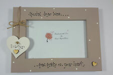 """Personalised Dog Pet Loss  """"Paw Prints on your Heart"""" 4x6 Photo Frame Gift"""