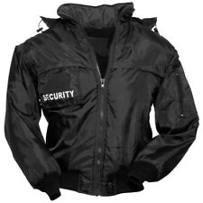Surplus Tactical Security Vest Mens Hooded Jacket Gilet With Fleece Lining Black L