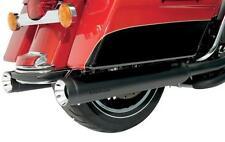 "Black Slip-on Muffler Supertrapp/Kerker Exhaust 4"" Stouts Harley Touring 2010-16"