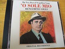 BENIAMINO GIGLI O SOLE MIO  CD MINT-