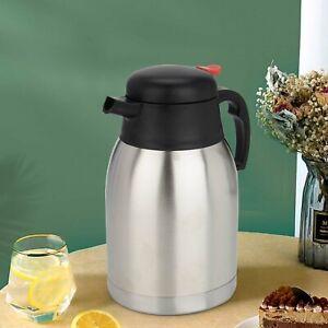 Thermoskanne Edelstahl 1.5 Liter Isolierkanne Kaffee Tee Kanne Einhandautomatik