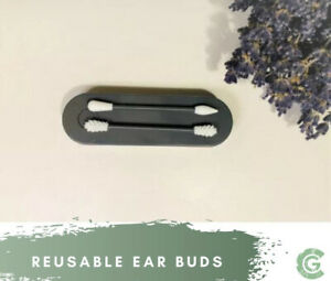 Reusable Ear buds, Ear Swabs, Cotton Buds 2 X Pack,Easily Washable Eco Friendly