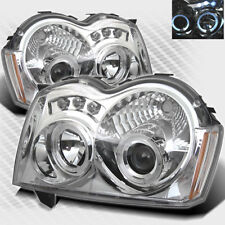 For 2005-2007 Jeep Grand Cherokee Twin Halo LED Projector Headlights Head Light