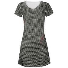 Halloween Battle Damage Chainmail Costume All Over Juniors Beach Cover-Up Dress