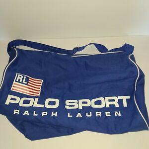Polo Sport Ralph Lauren Vintage Blue Shoulder Gym Duffle Bag