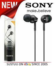 Sony MDR-EX110LBP Black Stereo EX-Series High Quality Earbud In-Ear Headphones