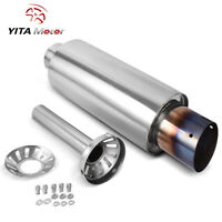 "YITAMOTOR 3"" inlet 4"" Outlet Muffler W/Silencer Burnt Tip Removable Tuning Valve"