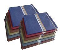 S4S Men's 100% Cotton Premium Collection Handkerchiefs - Pack of 6 (Multocolor)