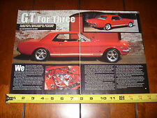 1966 FORD MUSTANG GT COUPE - ORIGINAL 2002 ARTICLE