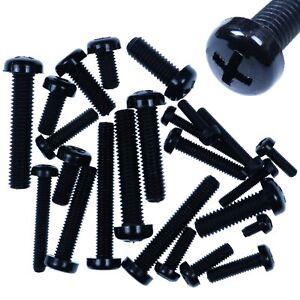 25x Tough M4 Black Nylon Plastic Pan Head Screws 12,16,20,25,30mm RacePro