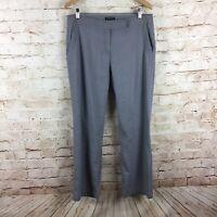 Eileen Fisher Gray Linen Viscose Blend Dress Pants Size 12 Petite