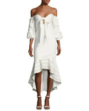 Alexis Zuki High-Low Off-the-Shoulder Dress XS, White NWT