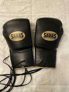 Sabas SS Boxing Gloves 16oz Black/Gold (Winning, Fly, Grant, Reyes, Rival)