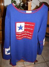 New listing Quacker Factory Flag Sweater Large