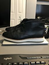Cole Haan Grand OS Leather Chukka Boots Black Size 12