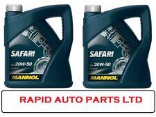 20w50 MANNOL SAFARI OIL 4x 5L = 20L LITRES PETROL & DIESEL SL/CF SPEC