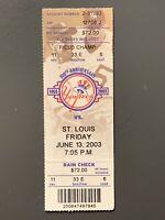 2003 New York Yankees Roger Clemens 300th Win & 4000 K's Full Ticket Stub