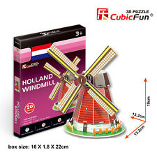 New Holland Windmill Netherlands 3D Model Jigsaw Puzzle 20 Pieces S3005H