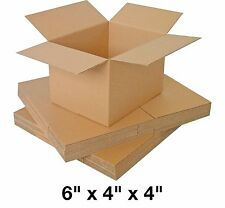 SINGLE WALL CARDBOARD MAILING BOXES 6x4x4  PACK OF 25 FAST DISPATCH