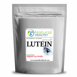 60 LUTEIN CAPSULES, EYE HEALTH SUPPLEMENT, UK MANUFACTURED, EYE CARE HIGH QUALIT