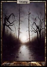 Marais - Swamp Unhinged (Unglued 2) - Full Art Textless - Mtg Magic - Played