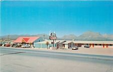 Van Horn Texas~4 Winds Motel & Restaurant~1960s Cars~Postcard