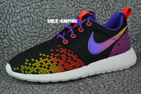 sports shoes 71a72 14295 Nike Roshe One Print GS 677784-003 Black White Multi color Hyper Violet  Volt Red