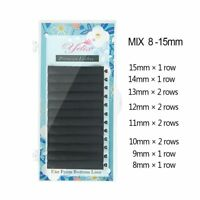 Yelix® Faux Mink Lash Extension Trays Matte 8-15mm Mixed Individual Eyelashes