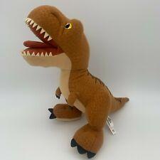 "Jurassic World T REX Mattel Tyrannosaurus Roar Sounds Plush 13"" x 15"" TESTED EUC"