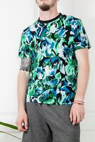 RARE KENZO X H&M MENS MULTICOLOR FLOWER PRINTED COTTON SHIRT T-SHIRT TEE SIZE S