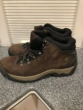 Timberland ACT 87637 Brown Leather Lace High Hike Trail Hiking Boots Women's 10m