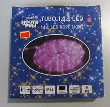TUBE LUMINEUX 144 LED COULEUR FUCHSIA LUMIÈRES NOËL X EXTÉRIEUR 6MT