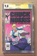 CHUCK NORRIS KARATE KOMMANDOS #2 • CGC SS 9.8 • MARVEL • SIGNED CHUCK NORRIS