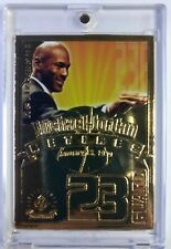 1999 99 Upper Deck 22 Kt Gold Retirement Michael Jordan Retires, #'d/9923, HOF