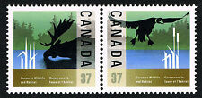 Canada 1988 Wildlife Conservation = MINT SE-TENANT PAIRS = XF NH PO FRESH!