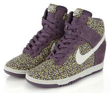 GORGEOUS NIKE Dunk Sky High Liberty of London Purple Suede Pepper Floral US 6