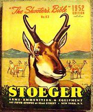 Stoeger Sales Catalog Guns Ammo Pistols Shotguns no 43 1953 Shooter's Bible Arms