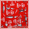 BonEful Fabric FQ Cotton Quilt Red Dr Seuss Cat in the Hat Red White Stripe Baby