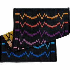 MISSONI Home Vera Two Piece Towel Set | 70 x 40cm | Charcoal Grey | NEW RRP £65