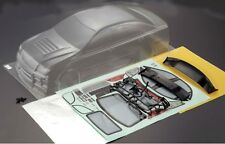 1/10 rc ep drift voiture 195mm non peinte clear body shell zéro crown goodyear racing
