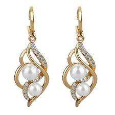 Charm Fashion Wedding Earrings Pearls Drop Earring Gold/Silver Dangle Gift Women
